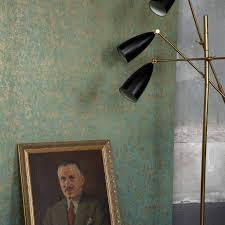 Salvage Blauw En Metallic Goud 9211053 De Mooiste Muren
