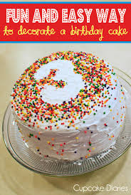 Decorated Birthday Cakes Fun And Easy Way To Decorate A Birthday Cake Cupcake Diaries