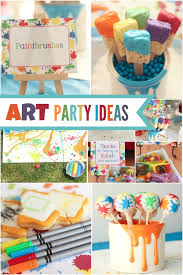 boy s arts and crafts themed birthday ideas splatter paint and splash party spaceships and laser beams