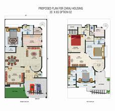 interesting small home design plan with 2 bedroom and complete area