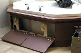 how to make an access panel for bathtub bath tub skirt that opens up for plumbing