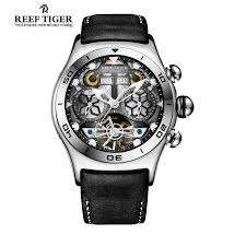 round dial watches promotion shop for promotional round dial reef tiger rt mens sport watches big skeleton dial luminous tourbillon watch year month calendar steel automatic watch rga703