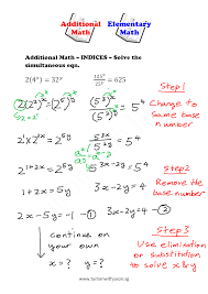 picturesque a math indices simultaneous equations singapore additional solve excel full size
