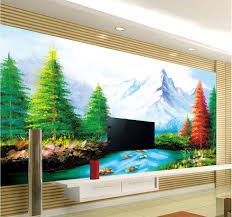 custom wallpaper papel de parede hd 3d landscape painting design 3d mural wallpaper 3d wall paper for room in wallpapers from home improvement on  on 3d wall art painting designs with custom wallpaper papel de parede hd 3d landscape painting design 3d