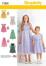 Simplicity Patterns Impressive Simplicity 48 Child's And Girls' Dresses And Purse