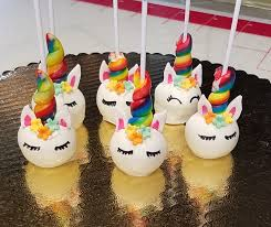 White Unicorn Cake Pops With Rainbow Horn