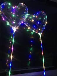 Design Led Gifts New Valentines Day Gifts Led Bobo Ball Love Heart Design Led Luminous Light Up Balloon Transparent Air Balloon For Wedding Party Best Party Boxes