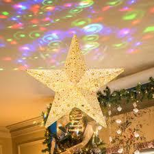 Baumspitze Stern Weihnachtsbaum Stern Projektor Christbaumspitze Gold Weihnachtsstern Weihnachtsbaum Feiertags Dekorationen Weihnachtsdeko Phitric