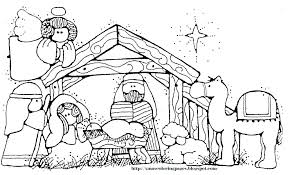Nativity Scene Coloring Pages Nativity Scene Coloring Pages Free In