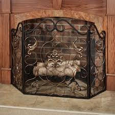 taleisin scroll fireplace screen bronze to expand