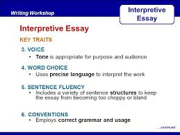 after reading key traits writing workshop interpretive essay  after readingwriting workshop interpretive essay continued 5