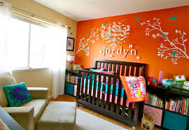 orange baby room color ideas design