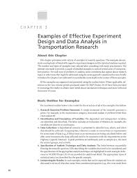 Sampling Design Example In Thesis Chapter 3 Examples Of Effective Experiment Design And Data
