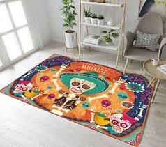 memorial sugar skull area rug room soft carpet modern floor rugs decor mat