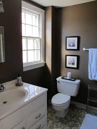Bathroom. Brown Bathroom Walls