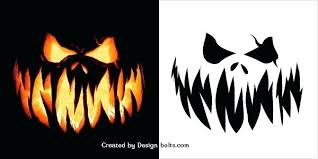 Scary Pumpkin Carving Patterns Enchanting Jack O Lantern Templates Printable Free Scary Pumpkin Carving