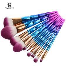 unicorn brush sets. coshine new arriveral 10pcs/set rainbow unicorn oval makeup brush set professional foundation powder cream sets