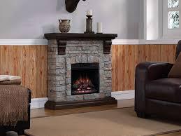 denali stone electric fireplace mantel package in brushed dark pine 18wm10400 i601