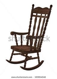 wooden rocking chair. Old Wooden Rocking Chair On White Background S