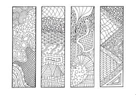 Free printable blank bookmark templates — white and rainbow colors. 9 Best Images Of Printable Bookmarks To Color Zentangle Printable Coloring Bookmarks Free Printable Coloring Bookmarks And Zentangle Bookmark Printable Printablee Com