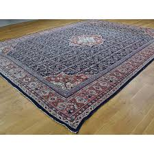 11 x14 3 antique persian mahal even wear navy blue hand knotted oriental rug