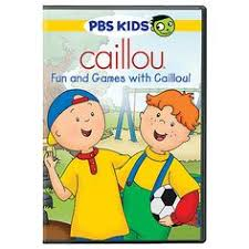 caillou fun and games with caillou dvd cailloupbs kidsfun