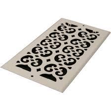 Decorative Metal Grates Decor Grates 6 In X 12 In White Steel Decorative Scroll Air