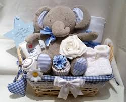 deluxe baby boys m s elephant gift basket baby shower new baby gift