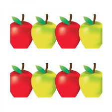 green and red apples clipart. classroom border - green and red apples clipart