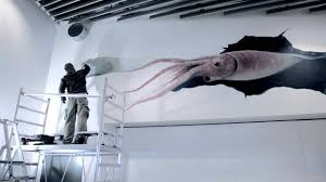 Small Picture Giant Squid 3D Wall Painting YouTube