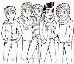 One Direction Band Coloring Pages Coloring Pages