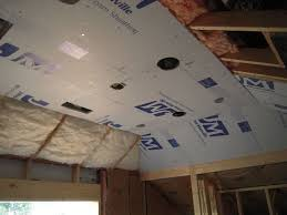 faced bathroom wall panels foamjpg  i proceeded with the ceiling   foam insulation is added over unfaced