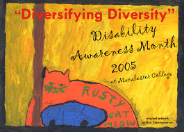 disability cassandra hartblay the poster for disability awareness month 2005 artwork adapted for this poster is rusty cat