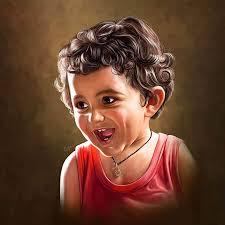child self portrait painting