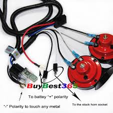 12v super tone horn wiring harness kit controller relay fuse grill store categories
