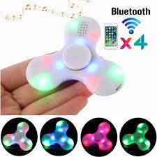 Fidget Spinner With Bluetooth Speaker And Lights Milano Toys 4 Pieces Fidget Spinner Rechargeable Led Light