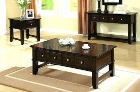 black coffee table sets coffee tables and end tables set oak coffee and end table sets