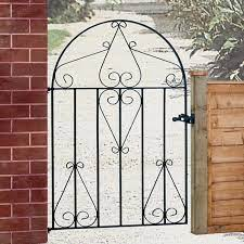 classic arched wrought iron garden gate