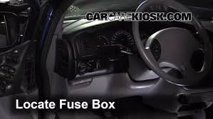 interior fuse box location chrysler town and country locate interior fuse box and remove cover