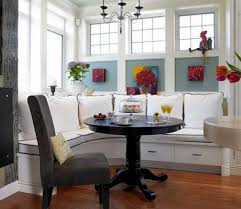 Kitchen Nook Lighting Interior Futuristic Breakfast Nook Design With Blue Bench Seat