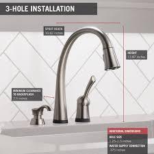 Delta Pilar Kitchen Faucet Delta 980t Sssd Dst Pilar Single Handle Pull Down Kitchen Faucet