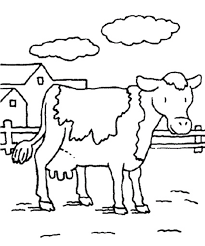 Small Picture Animal Farm Cow Coloring Pages Animal Coloring pages of