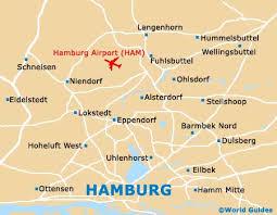 Hampurin lentokenttä kartta