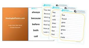 Dolch Second Grade Sight Words Flash Cards List Of Second Grade Dolch Sight Words With Flashcards