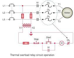 overload relay circuit diagram overload image thermal overload relay circuit operation tech on overload relay circuit diagram