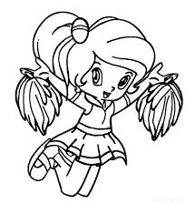 Small Picture Monster High Cheerleader Coloring Pages Amazing For Your Line