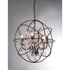 dazzling orb chandelier that enliven your home inspiring planet shaker orb chandelier with crystal and