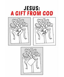 These nativity coloring sheets are ideal for kids of all ages. Jesus A Gift From God From Sunday School Kids Bible Bytes