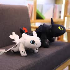 Us 8 75 42 Off 2019 How To Train Your Dragon 3 Plush Toy 35cm Toothless Light Fury Night Fury Stuffed Doll Gift In Movies Tv From Toys Hobbies