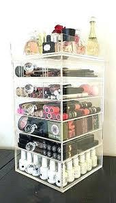 acrylic organizer acrylic organizers clear acrylic makeup organizer 7 tier round crystal by on acrylic